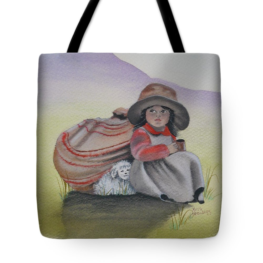 Children Tote Bag featuring the painting Hope by Kris Crollard