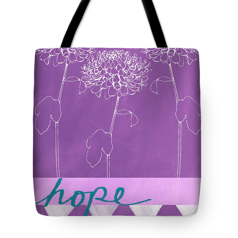 Flowers Tote Bag featuring the painting Hope by Linda Woods