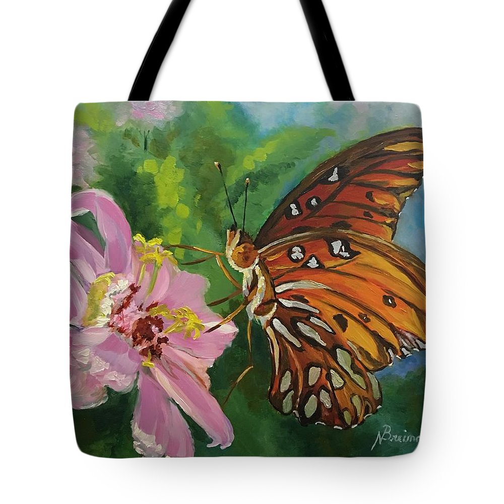 Floral Tote Bag featuring the painting Hope by Nancy Breiman