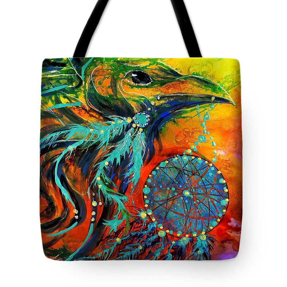 Mythical Tote Bag featuring the painting Hope Rising by Francine Dufour Jones