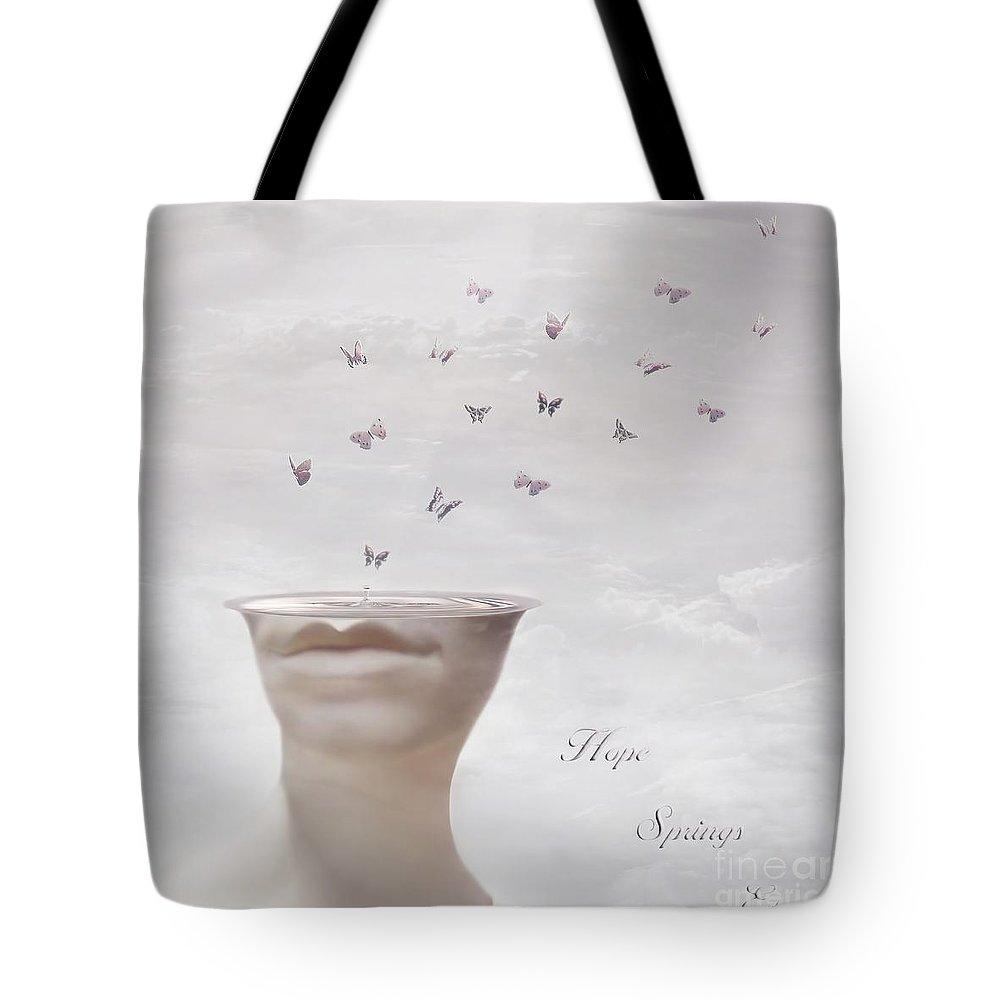 Surreal Tote Bag featuring the digital art Hope Springs Eternal by Jacky Gerritsen
