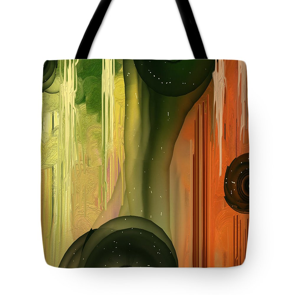 Abstract Art Tote Bag featuring the digital art Hope by ZH Dove