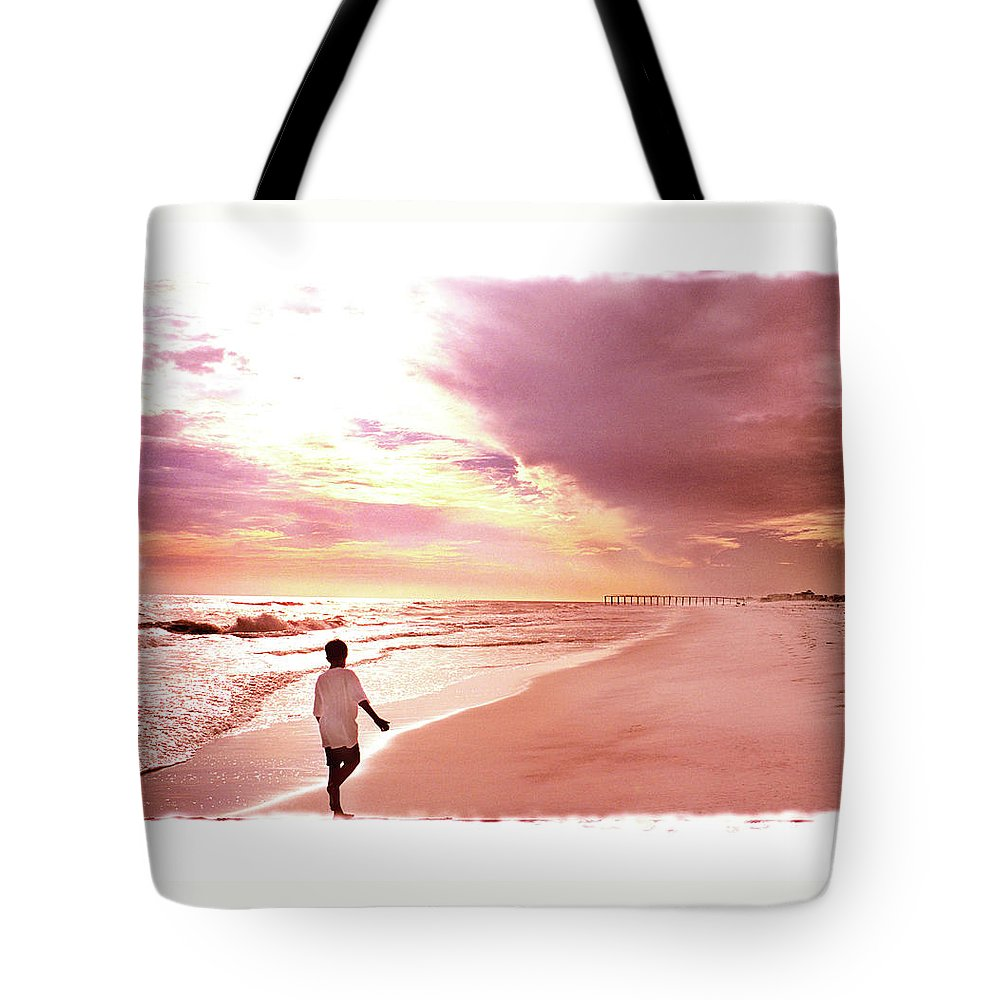 Sunset Tote Bag featuring the photograph Hope's Horizon by Marie Hicks