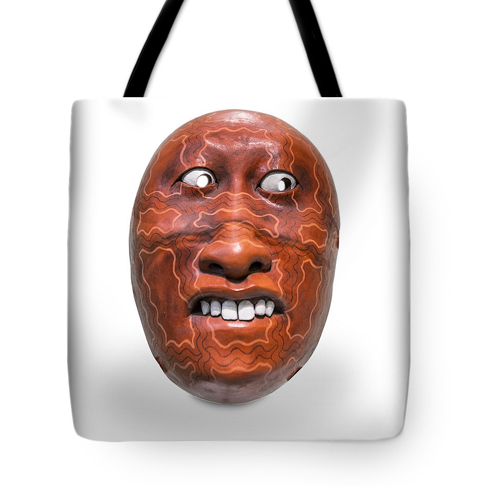 Chili Tote Bag featuring the photograph Hopi Mask Three by Gary Warnimont