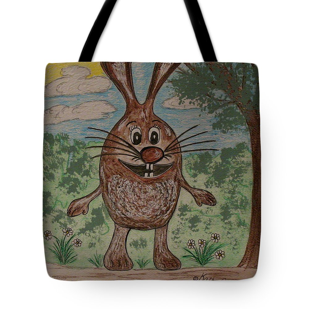 Cartoon Character Tote Bag featuring the painting Hopper Doodle Bolak by Kathy Marrs Chandler