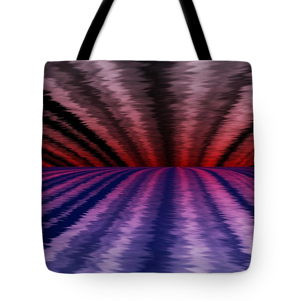 Abstract Tote Bag featuring the digital art Horizon by David Lane