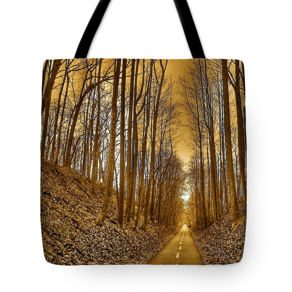 Landscape Tote Bag featuring the photograph Horizon by Mitch Cat