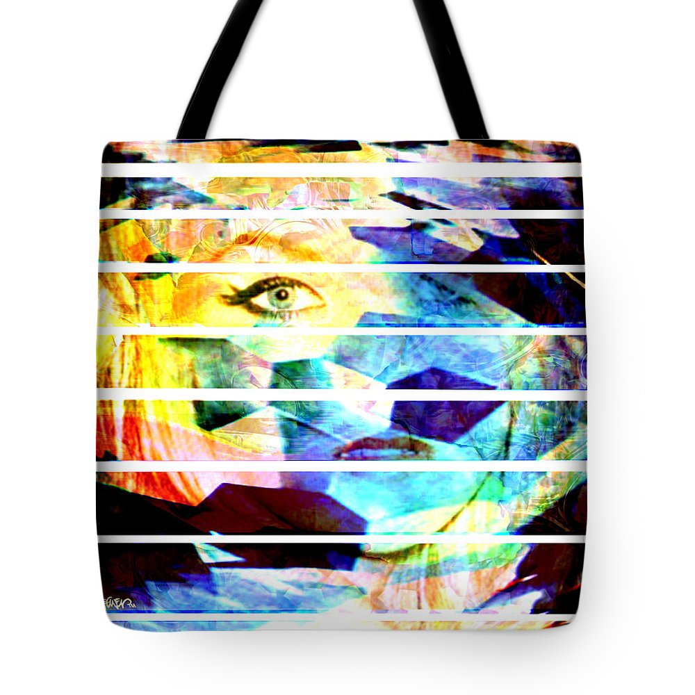 Woman Tote Bag featuring the digital art Horizontal View by Seth Weaver