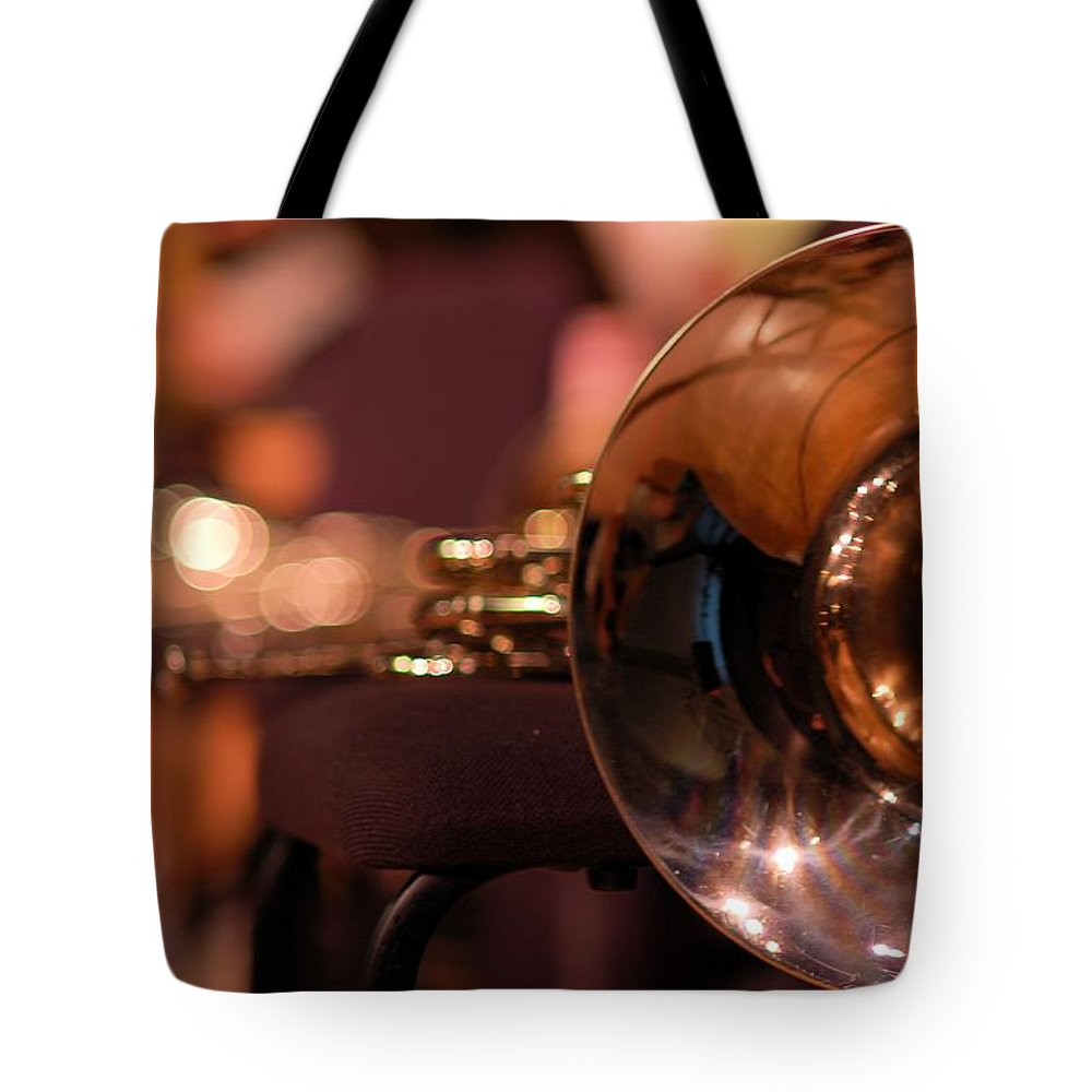 Horn Tote Bag featuring the photograph Horn At Rest by Constance Sanders