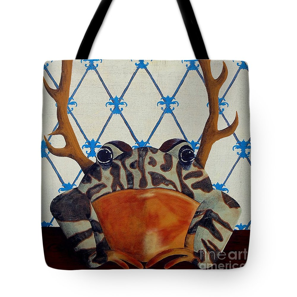 Turkey Tote Bag featuring the painting Horny Toad by Jade Kozlowski-Goetz