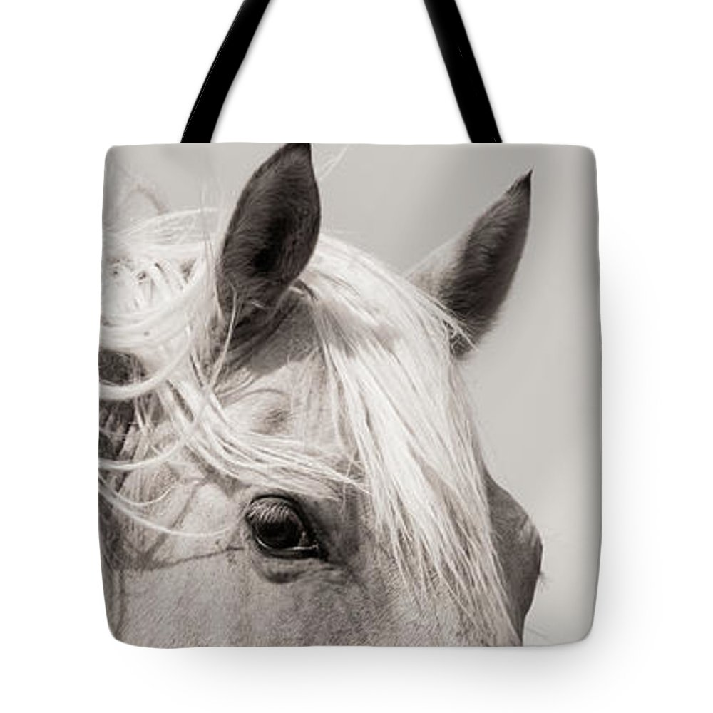 Tote Bag featuring the photograph Horse Eye by Kate Wiltshire