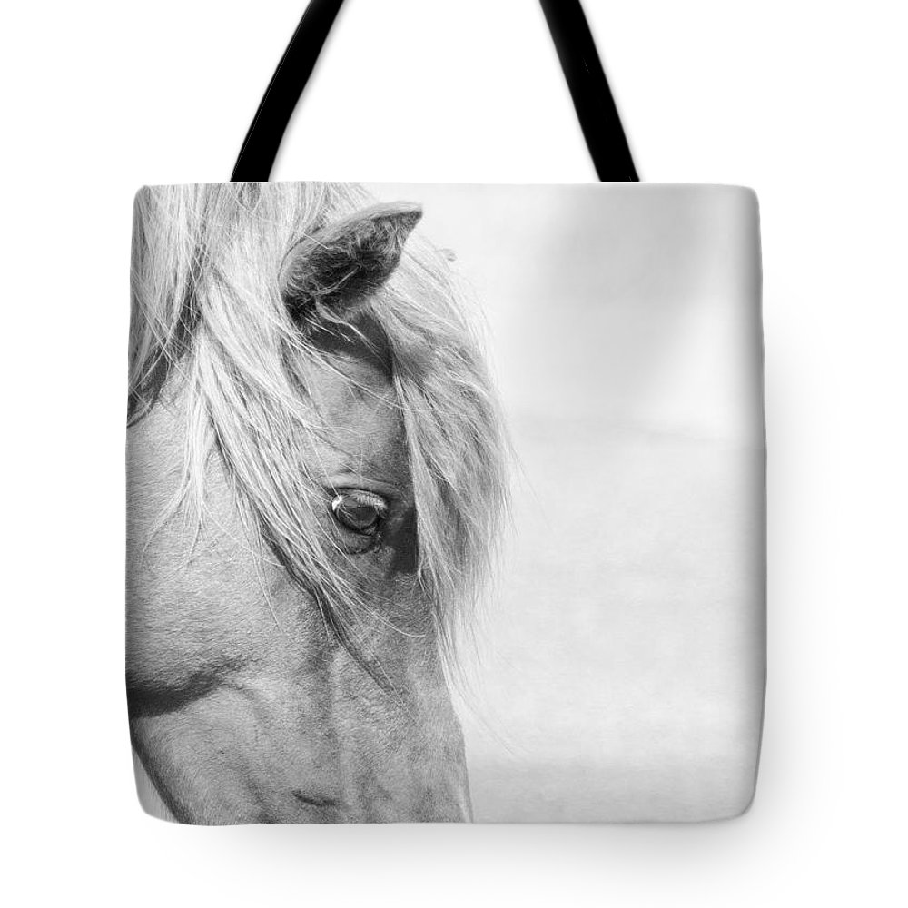 Wild Horse Tote Bag featuring the photograph Horse Eye by Stephanie McDowell