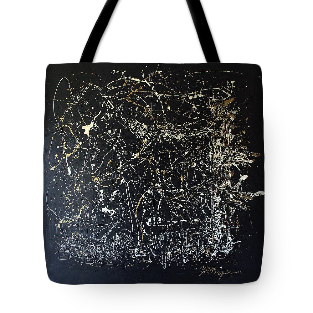 Abstract/impressionist Painting Tote Bag featuring the mixed media Horse In Pasture by J R Seymour