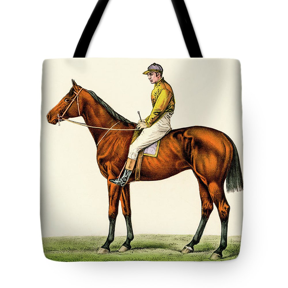 David Letts Tote Bag featuring the photograph Horse Jockey by David Letts