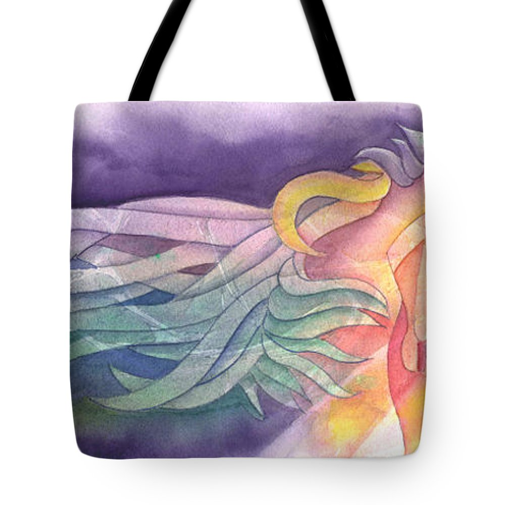 Horse Tote Bag featuring the painting Horse Of A Different Color by Marsha Elliott
