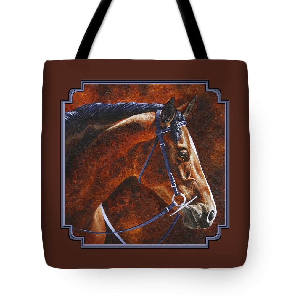 Horse Tote Bag featuring the painting Horse Painting - Ziggy by Crista Forest