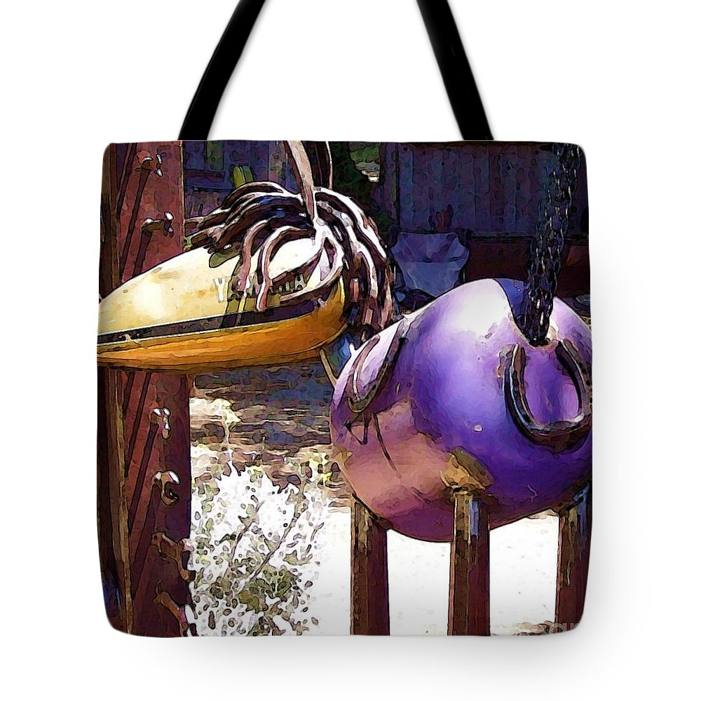 Sculpture Tote Bag featuring the photograph Horse With No Name by Debbi Granruth