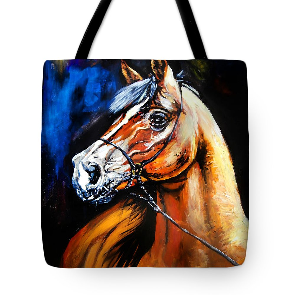 Horse Tote Bag featuring the painting Horsehead by Vladimir Petrov