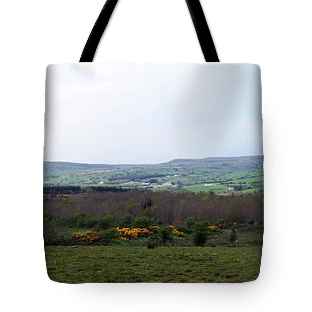 Ireland Tote Bag featuring the photograph Horses at Lough Arrow County Sligo Ireland by Teresa Mucha