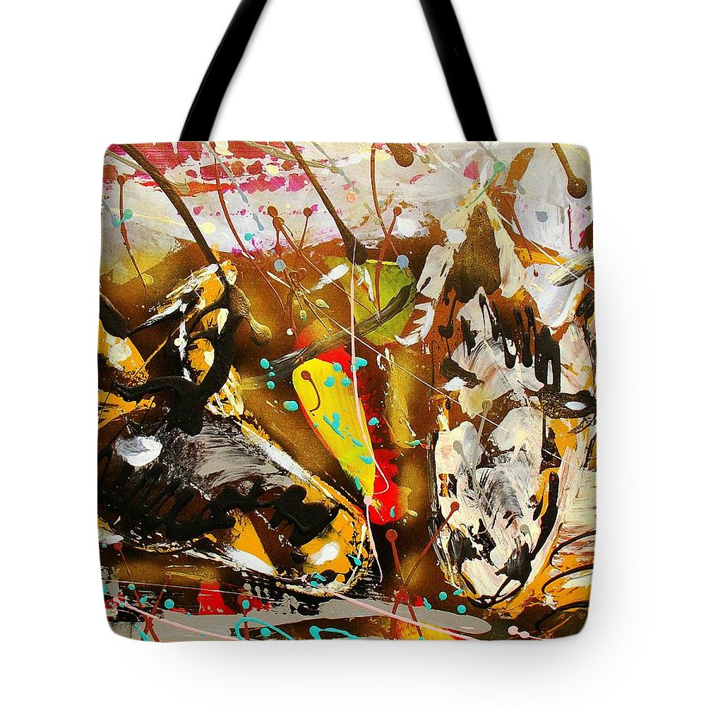 Abstract/impressionist Painting Tote Bag featuring the photograph Spirit Of The Horses A by J R Seymour