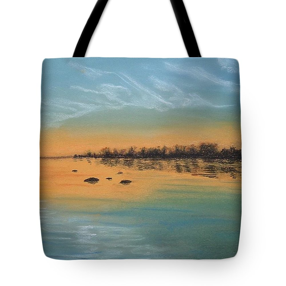 Pastel Tote Bag featuring the painting Horsetail Clouds by Lynn ACourt