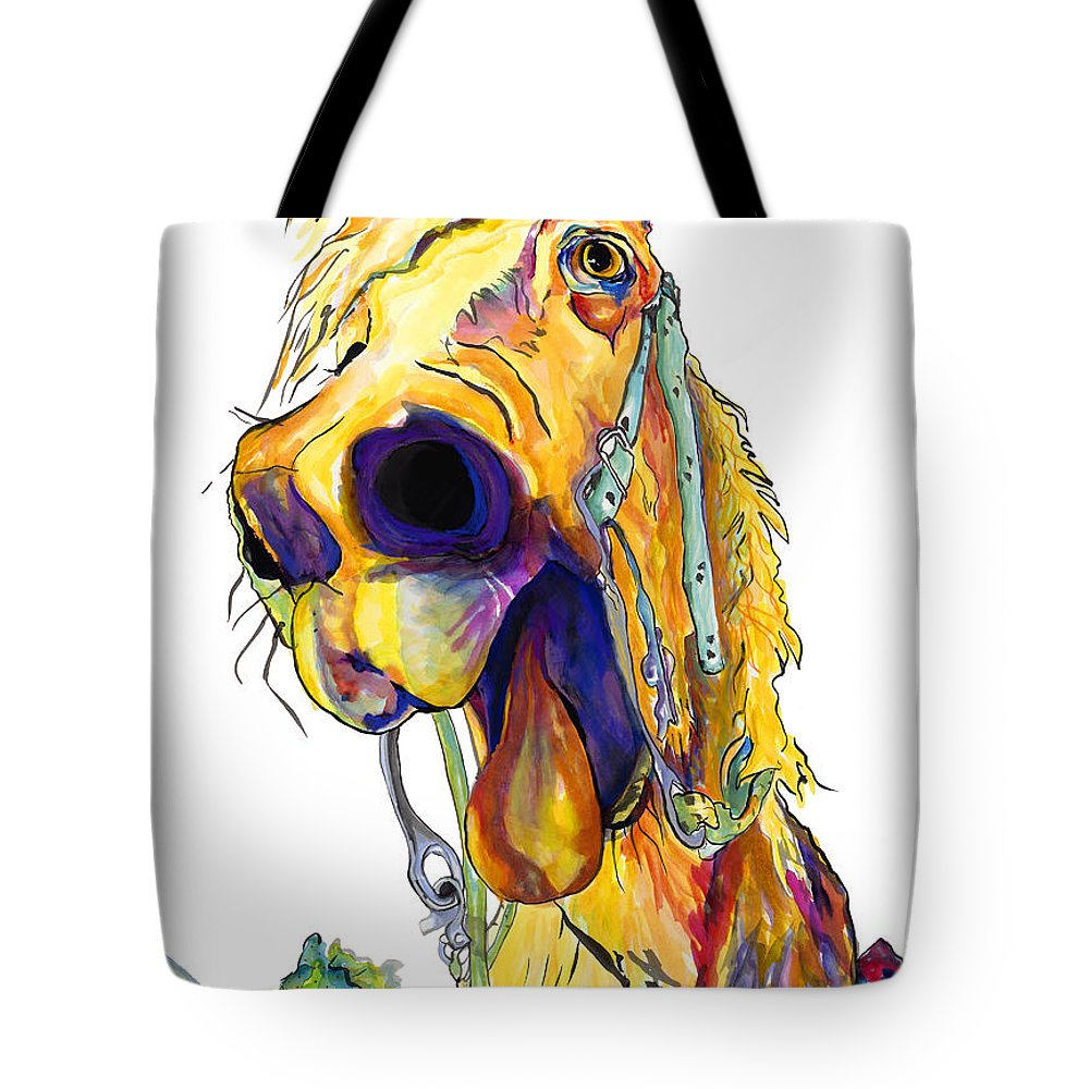 Animal Painting Tote Bag featuring the painting Horsing Around by Pat Saunders-White