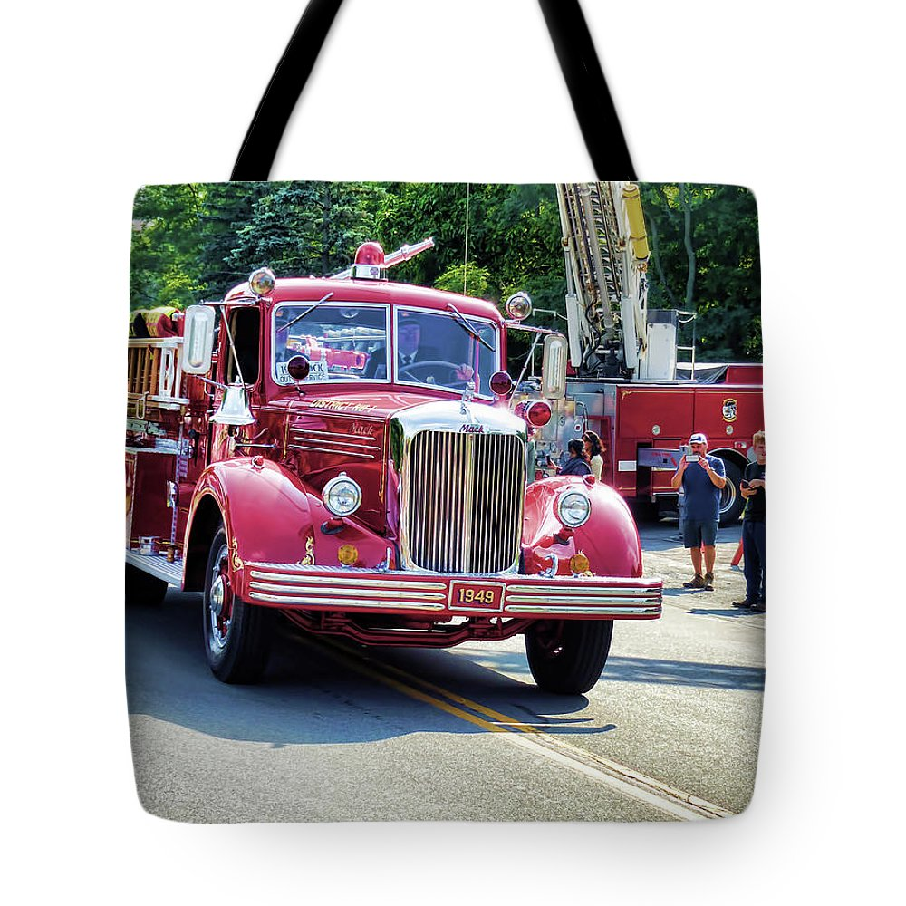 Hose Co. No. 1 Inc Tote Bag featuring the painting Hose Co. No. 1 Inc 2 by Jeelan Clark