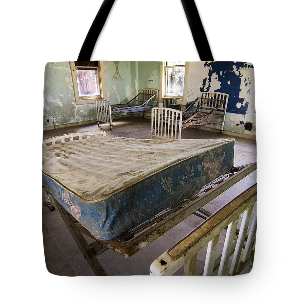 California History Tote Bag featuring the photograph Hospital Bed Preston Castle by Norman Andrus