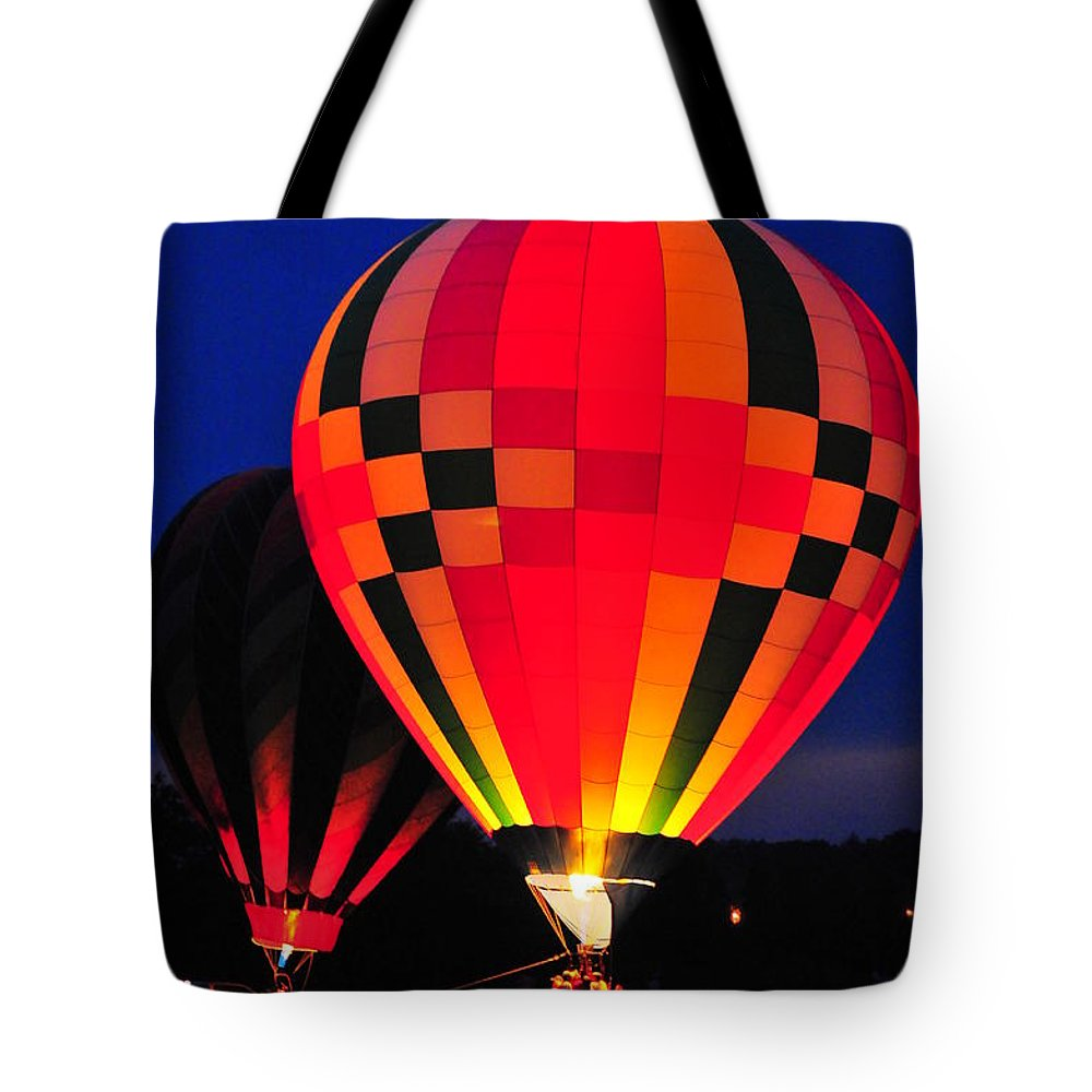 Hot Air Balloons Tote Bag featuring the photograph Hot Air Balloons by Catherine Reusch Daley