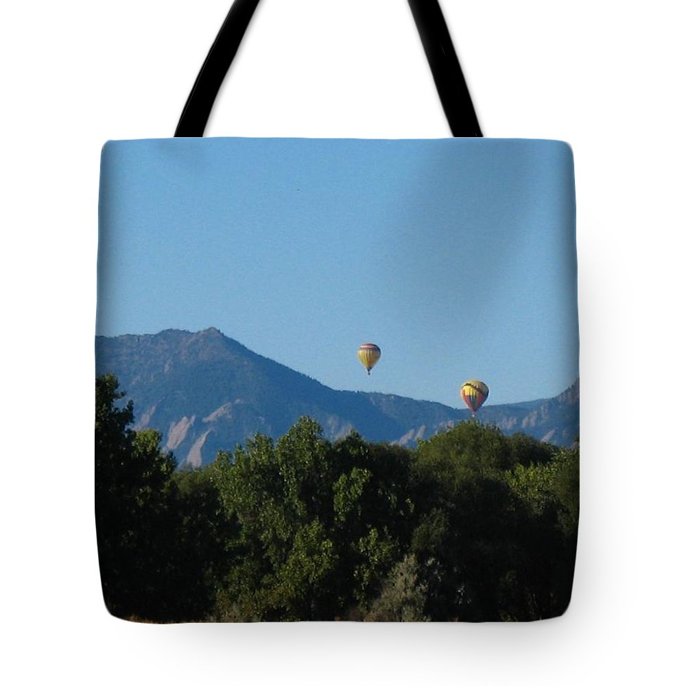 Hot Air Balloons Tote Bag featuring the photograph hot air balloons SCN M 23 by Sierra Dall