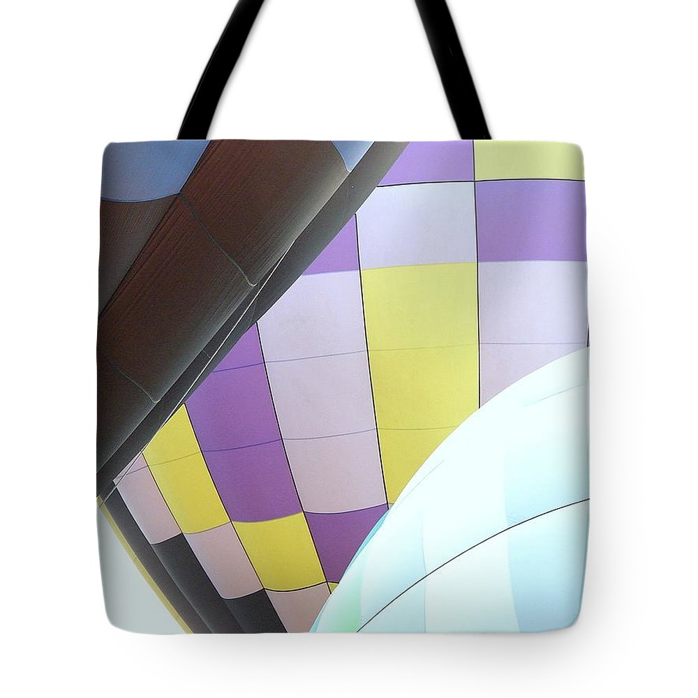 Balloons Tote Bag featuring the photograph Hot Air Rising by J R Seymour