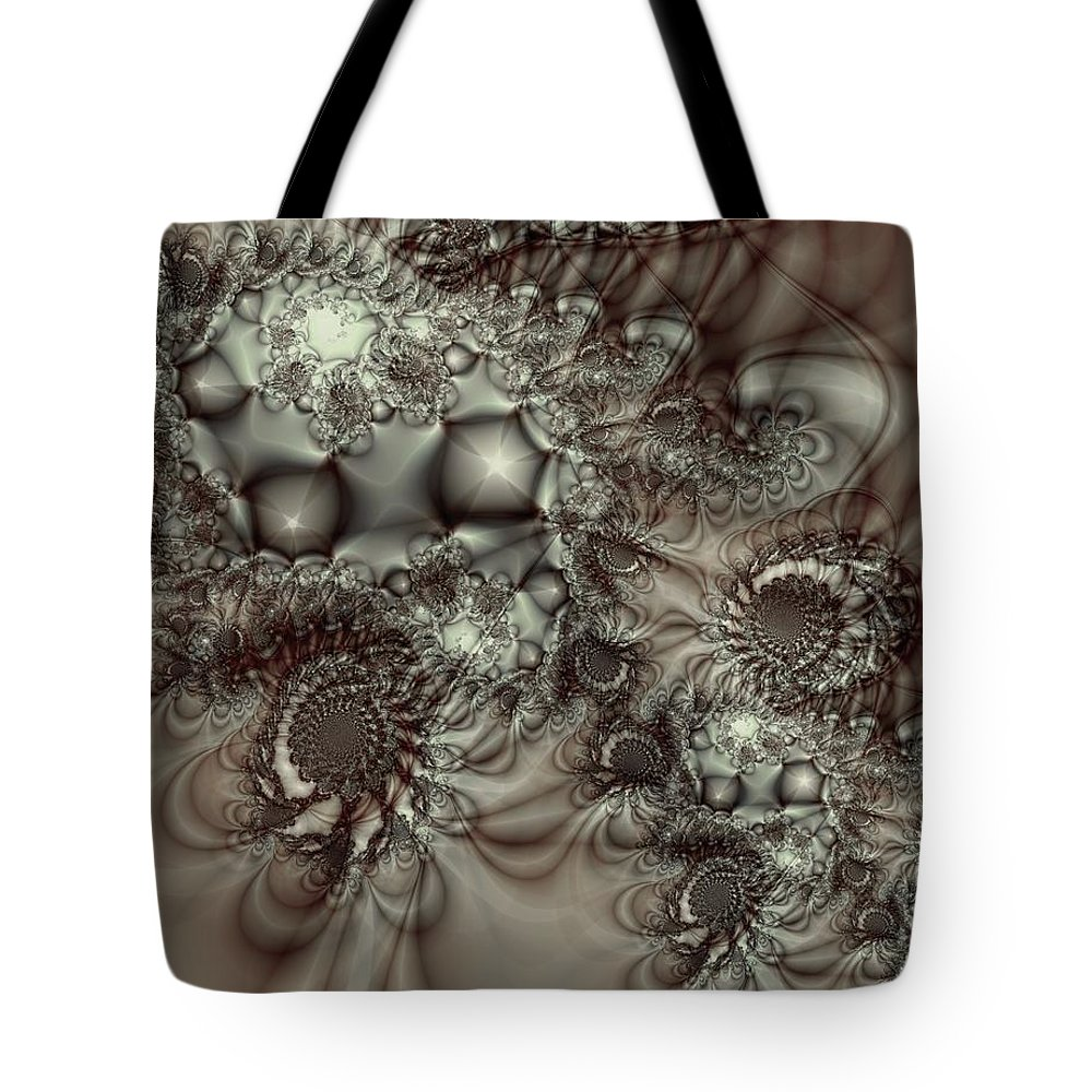 Green Tote Bag featuring the digital art Hot Chocolate Possibilities by Casey Kotas