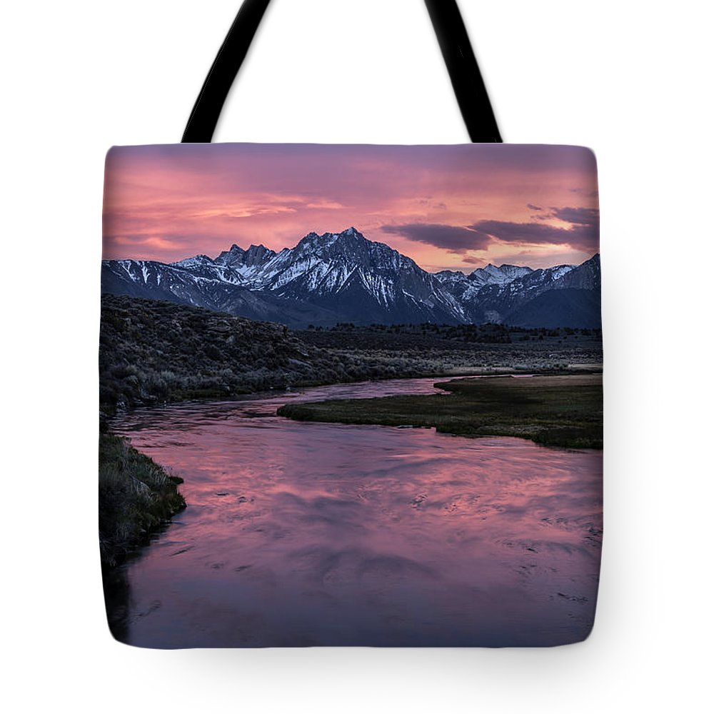 California Tote Bag featuring the photograph Hot Creek Sunset by Cat Connor