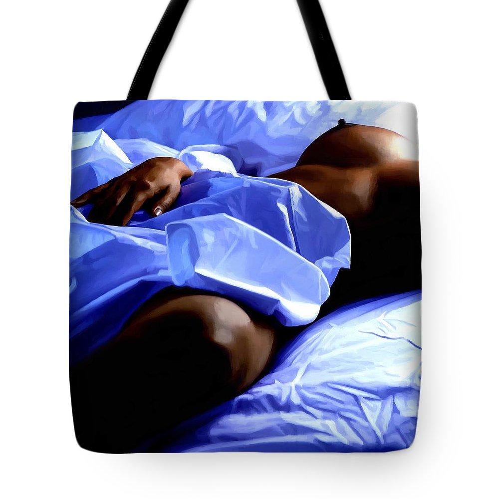 Hot Dreams Tote Bag featuring the mixed media Hot Dreams #1 by Gabriel T Toro
