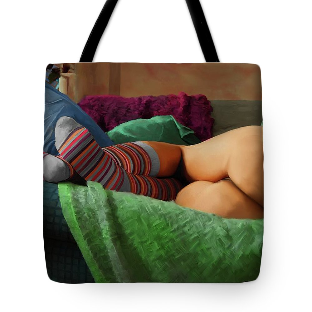 Painting Tote Bag featuring the mixed media Hot Dreams #2 by Gabriel T Toro