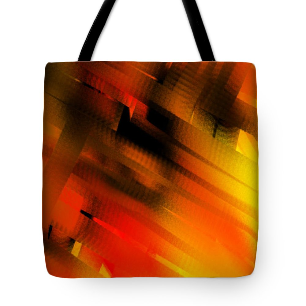Abstract Tote Bag featuring the painting Hot Lava by Frances Ku