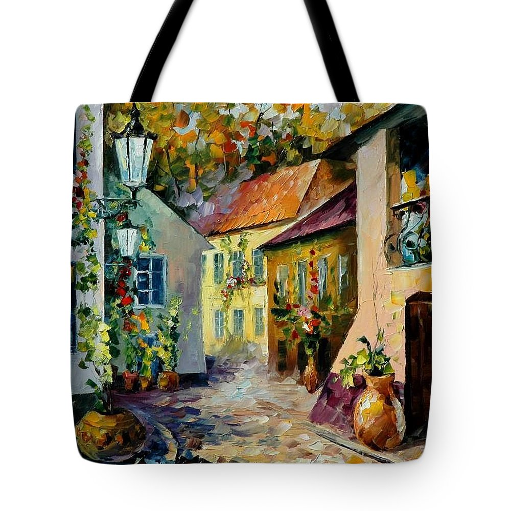 Landscape Tote Bag featuring the painting Hot Noon Original Oil Painting by Leonid Afremov