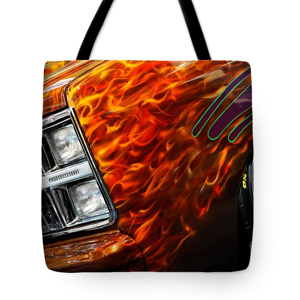 Hot Rod Tote Bag featuring the photograph Hot Rod Chevrolet Scotsdale 1978 by Oleksiy Maksymenko