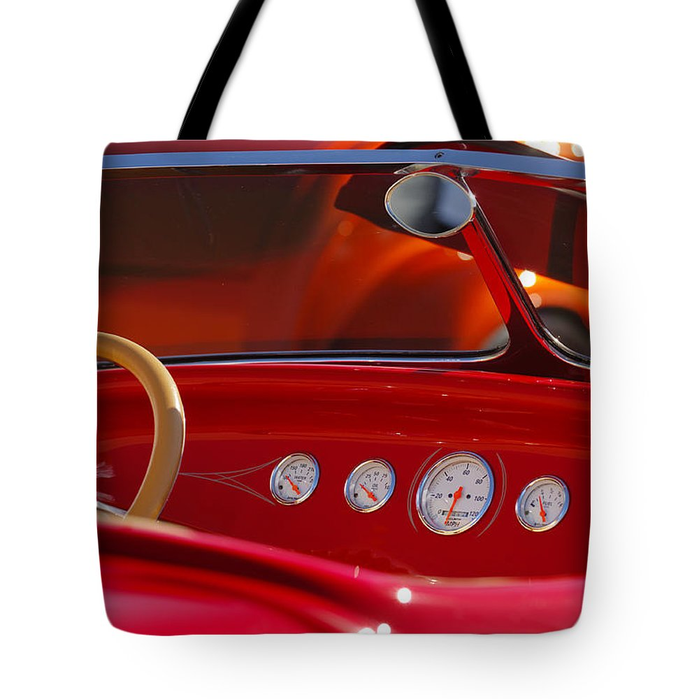 Transportation Tote Bag featuring the photograph Hot Rods by Jill Reger