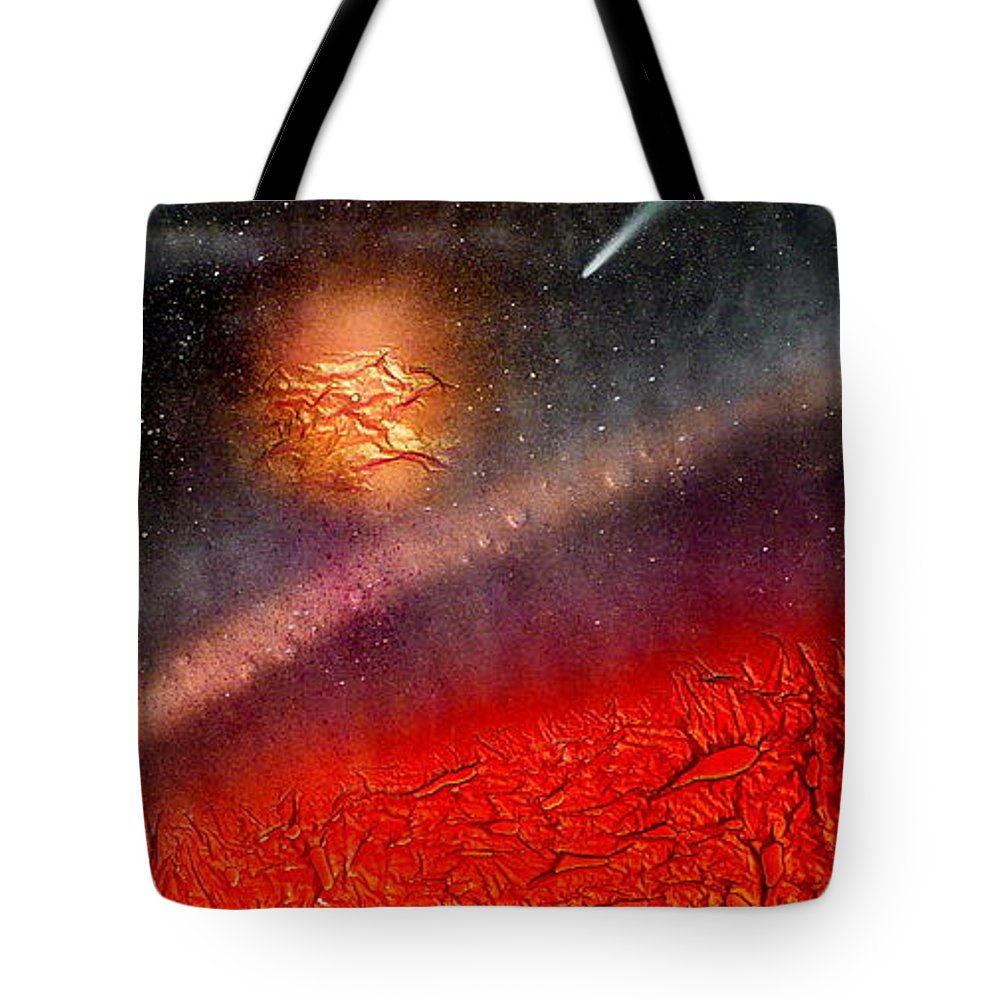 Landscape Tote Bag featuring the painting Hot Space by Rick Silas