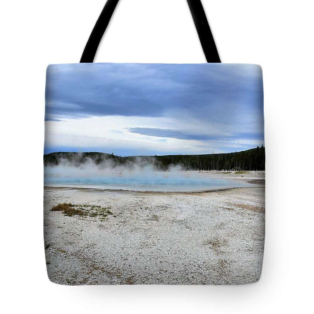 Wyoming Tote Bag featuring the photograph Hot Spring1 by Hughes Country Roads Photography