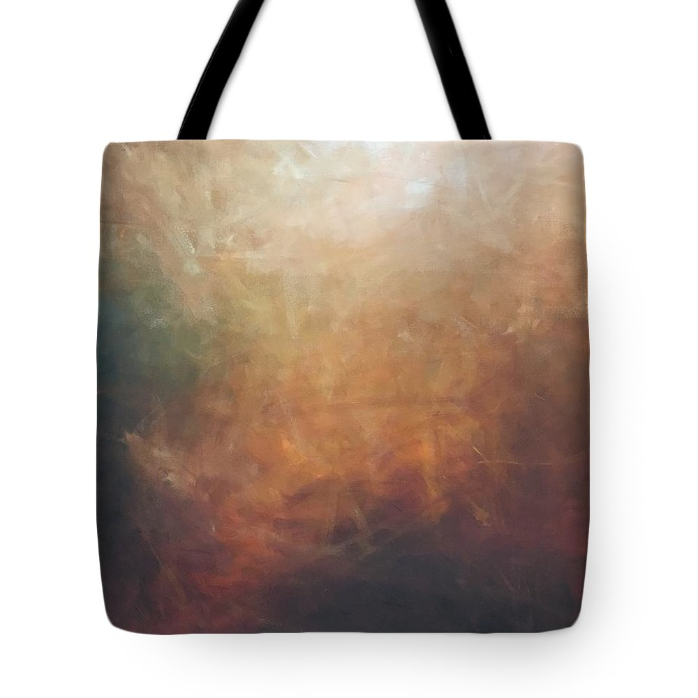 Abstract Tote Bag featuring the painting Hot Summer Night by Gary Mack