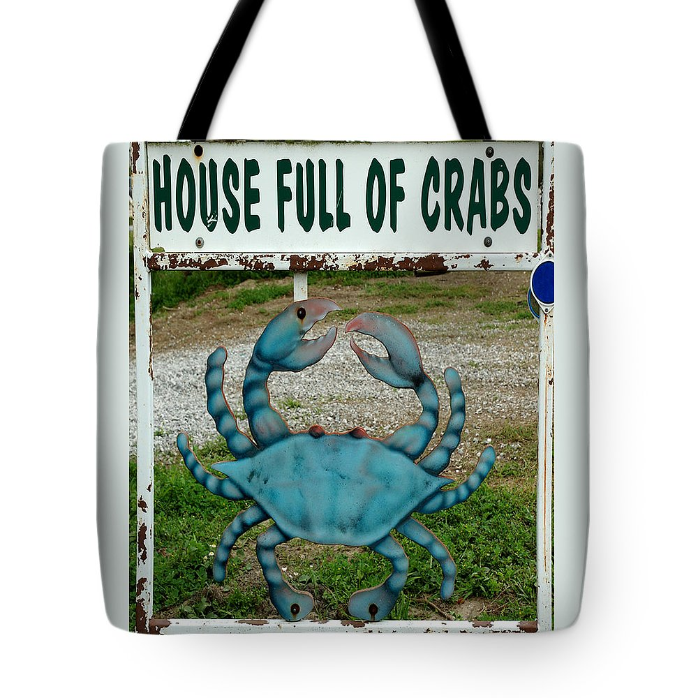 Color Photograph Tote Bag featuring the photograph House Full Of Crabs by Dan Albright
