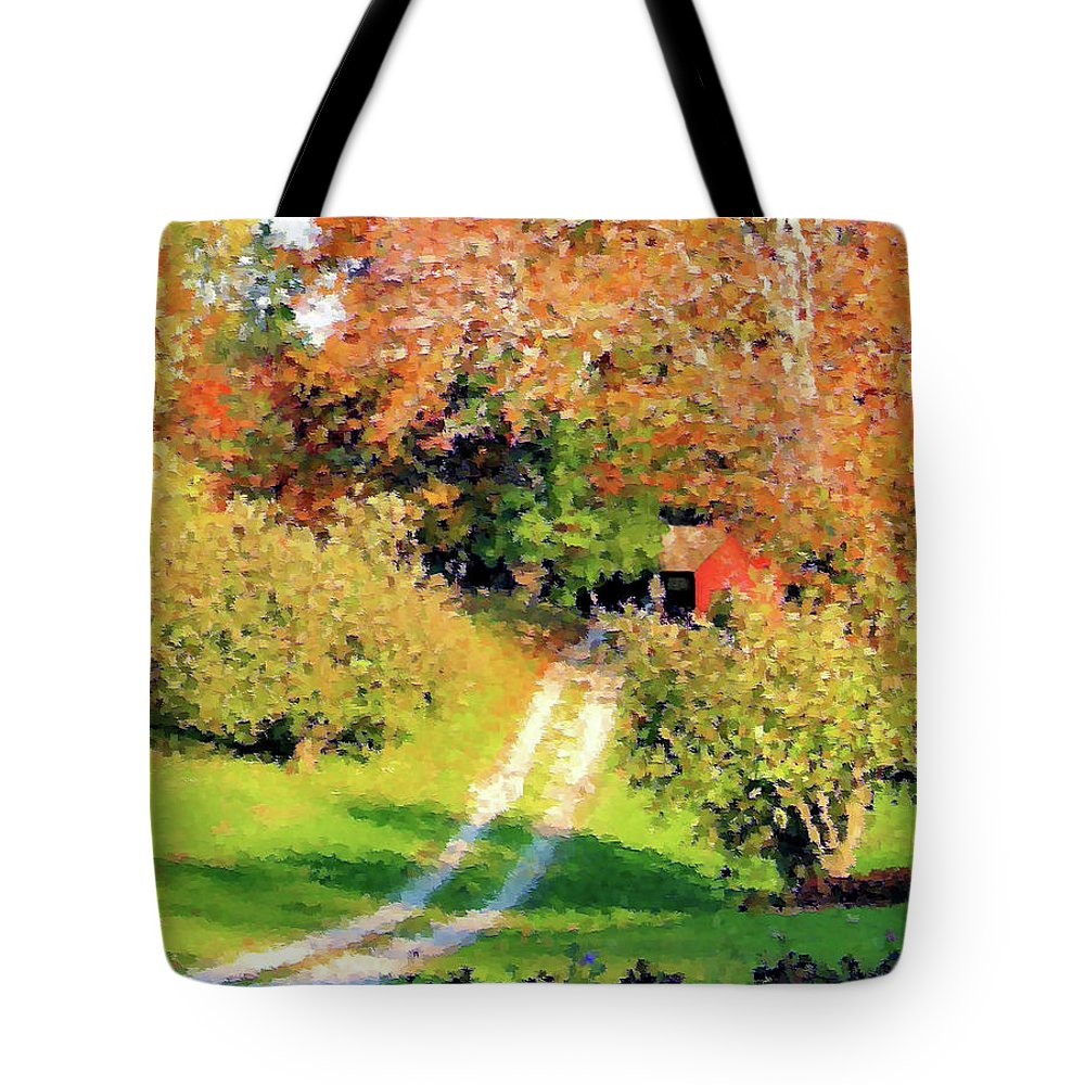 Country Road Tote Bag featuring the photograph House In The Hills by Kristin Elmquist