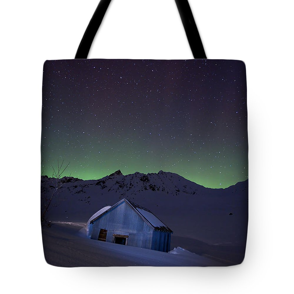 Alaska Tote Bag featuring the photograph House Of Blue by Ed Boudreau