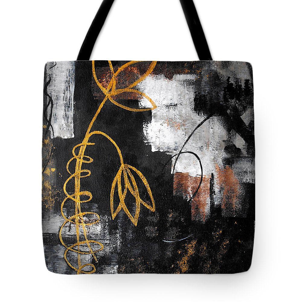 Abstract Tote Bag featuring the painting House Of Memories by Ruth Palmer