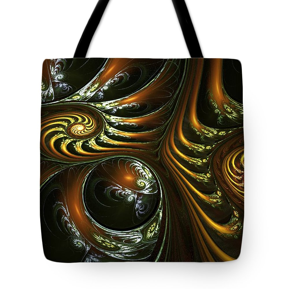 Digital Painting Tote Bag featuring the digital art House Of Mirrors by David Lane