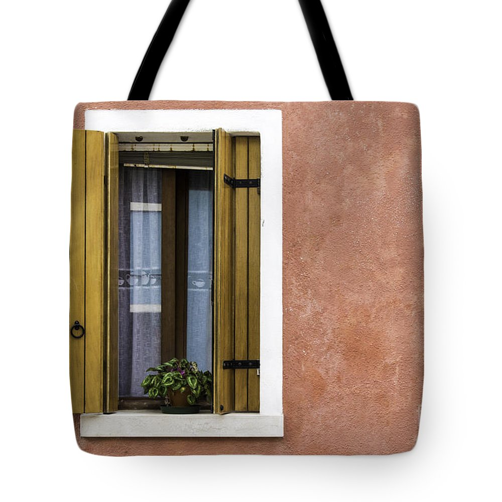 Pink Tote Bag featuring the photograph House Of Venice - Salmon by Sophia Pagan
