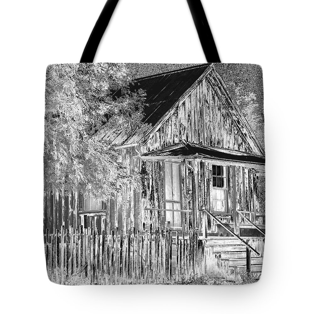 House Tote Bag featuring the photograph House On The Hill by Athala Carole Bruckner