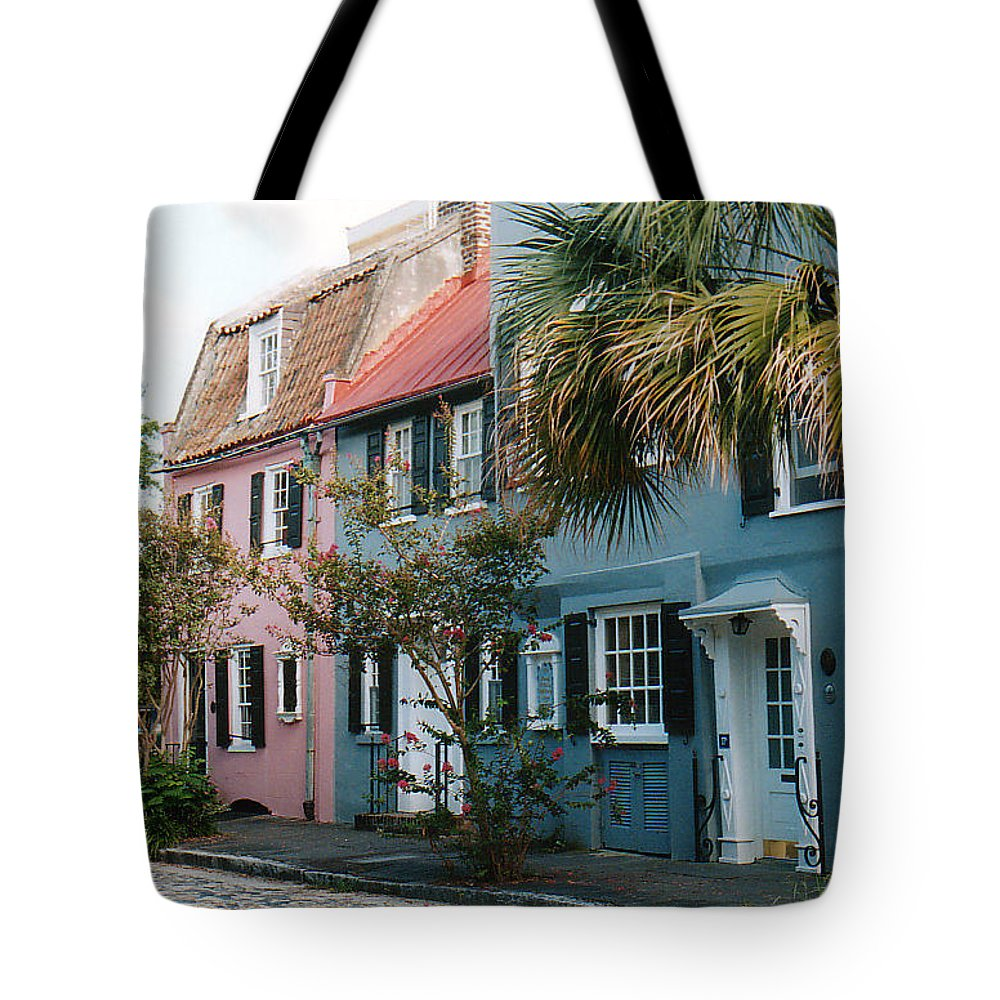 Photography Tote Bag featuring the photograph Houses In Charleston Sc by Susanne Van Hulst